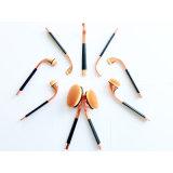 10ПК на базе профессиональных закрывается Gold косметический набор щеток для макияжа для лица