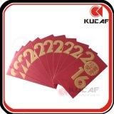 Выбитый пакет красного цвета бумаги логоса печатание изготовленный на заказ
