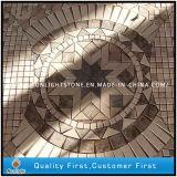 Preiswertes natürliches Travertin-u. Marmor-Steinmosaik-Muster für Fußboden-Dekoration