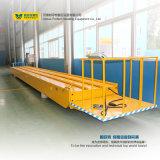 Veículo de manipulação material elétrico da indústria que move sobre os trilhos