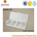 Boîte en plastique transparent à 4 compartiments