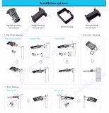 Luz brilhante super do diodo emissor de luz Shoebox do sensor da fotocélula da luz do dia da fábrica 120lm/W 100W 70W do melhor preço da alta qualidade