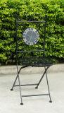 Venta caliente negra alrededor de silla de plegamiento del mosaico