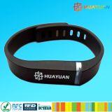 Festival utilizar E-ticket system RFID pasiva de TPU NTAG213 Pulsera inteligentes NFC