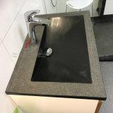 Bacino/dispersore neri del granito nella superficie di Polished&Honed&Brushed