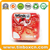 Contenitore Mint quadrato e rettangolare di stagno, barattolo di latta della caramella, stagno della confetteria con la cerniera, cassa dello stagno del metallo per l'imballaggio per alimenti