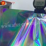 Película holográfica da laminação térmica da cor BOPP do lustro para o Paperbag
