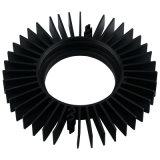 Конкурсные Черный анодированный алюминиевый радиатор с ЧПУ обработки