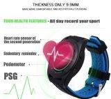 Heet Nr 1 G6 Bluetooth 4.0 Polshorloge van de Monitor van de Slaap van de Afstandsbediening van het Horloge van Psg van de Monitor van het Tarief van het Hart Smartwatch het Slimme voor de Androïde Ios Slimme Zwarte Steelband van de Telefoon