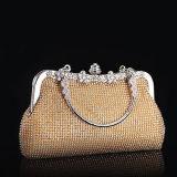 Neue Form-Frauen-Beutel-Stein-Muster-Handtaschen-glänzendes Gold/silberne Damen, die Handtaschen Eb809 glätten