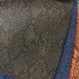 ヘビパターンPU PVCハンドバッグの革靴の革