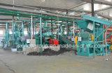 Gomma residua che ricicla la riga di gomma della pianta della macchina della briciola della polvere