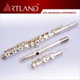 16 agujeros abiertos plateado estándar flauta (AFL5507)