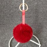 Мешок Keychain шарика шерсти кролика Faux очаровывает шарик Keychain Poms