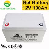 Tailles de batterie de gel du transport gratuit 100ah 12V