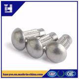 Rebite de alumínio contínuo principal do Oval/cogumelo com nó