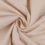 100% tela de algodón orgánico Certificado Organic Textile con raya