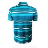 Custom Fashion Wholesale Price Cotton Polyester Polo à rayures pour hommes