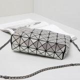 Silber PU-rhombischer Dame-Beutel der Größen-5X8 (16A060)