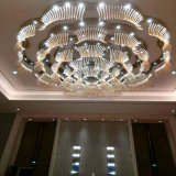 Hotel Decorative Flower Shape Luminária de teto LED e lustre para lobby