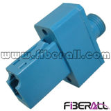 Adaptador óptico híbrido LC de fibra al simplex azul plástico de FC