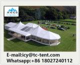 Customed formte das Clearspan Zelt, das mit emporgeragtem Entwurfs-Mischungs-Zelt angeschlossen wurde