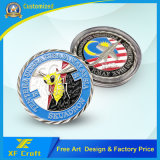 Moneta personalizzata del metallo del ricordo di prezzi di fabbrica con il bordo dell'incastronatura (XF-CO30)