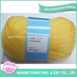 Azul personalizado do fio em linha que tece tricotando manualmente o fio do Crochet