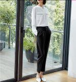 Женщин Кругл-Шеи лета рубашка чистых чисто белых