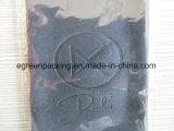 Einzelnes Verpackungs-Schwarzes Microfiber Eyewear Putztuch mit geprägtem Firmenzeichen