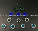 Heißer verkaufen9mm KristallRhinestone beim Nähen auf Strass mit Greifer-EinstellungRhinestone (TP-9mm aller Montana-runde Kristall)