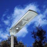 Réverbère solaire Integrated de jardin de DEL avec le modèle puissant d'ODM de panneau réglable