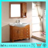 Vanité en céramique de salle de bains en bois solide de qualité de partie supérieure du comptoir