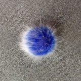 中国の工場供給の柔らかい毛皮の球のキーホルダーののどのキツネの毛皮のポンポン