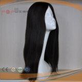 까만 색깔 Virgin 머리 가발에 본래대로 아름다운 디자인 가득 차있는 레이스