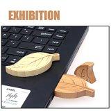도매 잎 모양 나무로 되는 USB 섬광 드라이브 환경 USB 지팡이
