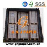 Frente revestido de papel autocopiante para recibir la impresión