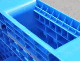 Da face lisa plástica do HDPE do Virgin da bandeja 1200*1000*150mm dos produtos do armazém pálete plástica com os 3 corredores para a pálete do padrão da UE