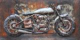 искусствоо стены металла 3D с ретро Motobike для домашняя декоративной