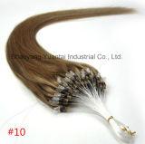 Micro estensione dei capelli dell'anello fatta dei capelli umani del Virgin