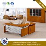 L 모양 나무다리 디렉터 사무실 책상 (NS-NW071)