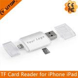Microsd TF lettore di schede del lampo + del USB per le unità dell'IOS del iPod del iPad di iPhone (YT-R001)