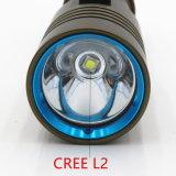 5000lm Xm-L2 imprägniern Tauchens-Taschenlampe