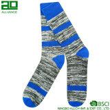 Calcetines azules de los hombres del algodón de la manera caliente