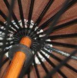 24 Panels Promotionnels Custom imprimé Straight Wooden Handle Umbrella