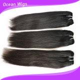100gまっすぐなインドのRemyの毛