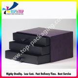 卸し売り無光沢のラミネーションの点紫外線OEMデザインペーパー引出しボックス