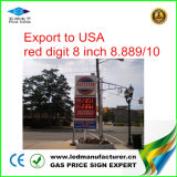 Muestra del cambiador del precio del gas de 8 pulgadas LED (NL-TT20SF9-10-3R-White)