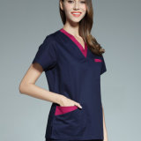 Venda por atacado V-Neck Medical Uniform Reversible Scrubs of Cotton
