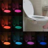 Свет крышки шара туалета туалета знака туалета датчика ванной комнаты СИД